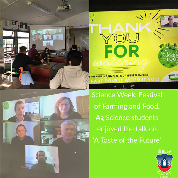 Ag Science Students attend Virtual Talk