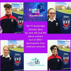 Abbey Students Dominate TY Science Week Quiz