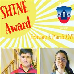 TY SHINE Award for February and March